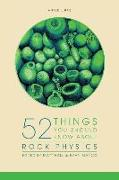 Cover-Bild zu 52 Things You Should Know About Rock Physics von Bianco, Evan