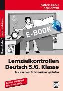 Cover-Bild zu Lernzielkontrollen Deutsch 5./6. Klasse (eBook) von Ebner, Kathrin