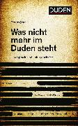 Cover-Bild zu Was nicht mehr im Duden steht (eBook) von Graf, Peter