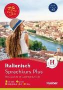 Cover-Bild zu Hueber Sprachkurs Plus Italienisch - Premiumausgabe von Caiazza-Schwarz, Gabriella