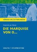 Cover-Bild zu Die Marquise von O... von Heinrich von Kleist von Kleist, Heinrich von