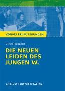 Cover-Bild zu Die neuen Leiden des jungen W. von Ulrich Plenzdorf von Plenzdorf, Ulrich