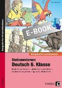 Cover-Bild zu Stationenlernen Deutsch 6. Klasse (eBook) von Heidemann, Tim