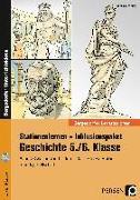 Cover-Bild zu Stationenlernen Geschichte 5/6 Band 2 - inklusiv von Lauenburg, Frank