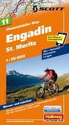 Cover-Bild zu Engadin St. Moritz Nr. 11 Mountainbike-Karte 1:50 000. 1:50'000