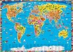 Cover-Bild zu Illustrierte politische Weltkarte