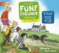 Cover-Bild zu Fünf Freunde JUNIOR - Drei Abenteuer - Die Suche nach dem Rennpferd. Den Räubern auf der Spur. Unser Timmy ist der Beste