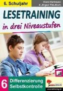 Cover-Bild zu Lesetraining in drei Niveaustufen / Klasse 6 (eBook) von Hartmann, Horst