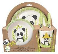 Cover-Bild zu Panda 5tlg. Set aus Bambus (Esslernset) in offener Geschenkverpackung