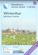 Cover-Bild zu Wanderkarte Kanton Zürich 3. Winterthur Mittleres Tösstal. 1:25'000
