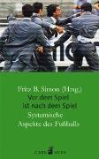 Cover-Bild zu Simon, Fritz B. (Hrsg.): Vor dem Spiel ist nach dem Spiel
