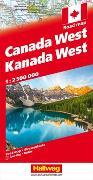 Cover-Bild zu Hallwag Kümmerly+Frey AG (Hrsg.): Kanada Strassenkarte West 1:2.5 Mio. 1:2'500'000