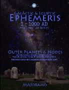 Cover-Bild zu Joramo, Morten Alexander: Galactic & Ecliptic Ephemeris 1 - 1000 Ad