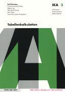 Cover-Bild zu Tabellenkalkulation von Bänziger, Rolf