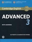 Cover-Bild zu Cambridge English Advanced 3 Student's Book with Answers with Audio