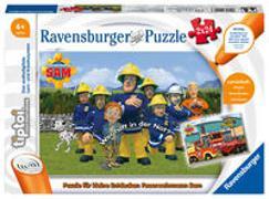 Cover-Bild zu Ravensburger tiptoi 00046 Puzzle für kleine Entdecker: Feuerwehrmann Sam - 2x24 Teile Puzzle von Ravensburger ab 4 Jahren