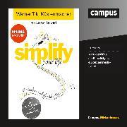 Cover-Bild zu simplify your life (Audio Download) von Seiwert, Lothar