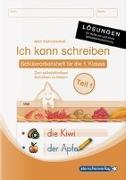 Cover-Bild zu Ich kann schreiben Teil 1 Lösungen - für die Ausgabe mit und ohne Artikelkennzeichnung von Langhans, Katrin