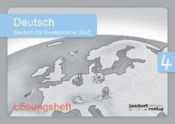 Cover-Bild zu Deutsch 4 (DaZ) (Lösungsheft) von Wachendorf, Anja