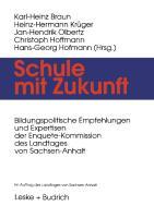 Cover-Bild zu Schule mit Zukunft von Braun, Karl-Heinz (Hrsg.)