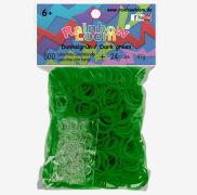 Cover-Bild zu Rainbow Loom Gummibänder dunkelgrün