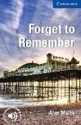 Cover-Bild zu Forget to Remember von Maley, Alan
