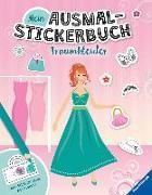 Cover-Bild zu Liepins, Carolin: Mein Ausmal-Stickerbuch: Traumkleider