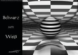 Cover-Bild zu Manhart, K. A.: Schwarz trifft Weiß (Wandkalender 2021 DIN A2 quer)