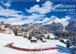Cover-Bild zu Dieterich, Werner: Graubünden Engadin 2021 (Wandkalender 2021 DIN A3 quer)