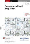 Cover-Bild zu Swisstopo. Blattübersicht / Tableaux des feuilles / Sommario dei fogli / Map Index 2021