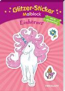 Cover-Bild zu Schmidt, Sandra (Illustr.): Glitzer-Sticker Malblock Einhörner