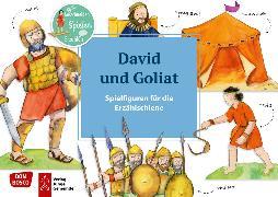 Cover-Bild zu David und Goliat. Spielfiguren für die Erzählschiene von Lefin, Petra (Illustr.)