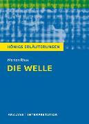 Cover-Bild zu Die Welle - The Wave von Morton Rhue. Textanalyse und Interpretation mit ausführlicher Inhaltsangabe und Abituraufgaben mit Lösungen (eBook) von Rhue, Morton