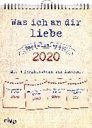 Cover-Bild zu Was ich an dir liebe - Bastelkalender 2020 von Reinwarth, Alexandra