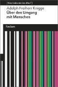 Cover-Bild zu Knigge, Adolph Freiherr: Über den Umgang mit Menschen