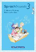 """Cover-Bild zu Sprachfreunde, Sprechen - Schreiben - Spielen, Ausgabe Nord/Süd - Neubearbeitung 2015, 3. Schuljahr, 5-Minuten-Training """"Richtig schreiben"""", Arbeitsheft von Junghänel, Katrin"""