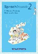 """Cover-Bild zu Sprachfreunde, Sprechen - Schreiben - Spielen, Ausgabe Nord/Süd - Neubearbeitung 2015, 2. Schuljahr, 5-Minuten-Training """"Richtig schreiben"""", Arbeitsheft von Junghänel, Katrin"""