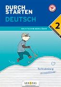 Cover-Bild zu Durchstarten Deutsch 2. Klasse Mittelschule/AHS Rechtschreibung üben von Schützeneder, Doris