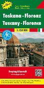 Cover-Bild zu Toskana - Florenz, Autokarte 1:150.000, Top 10 Tips. 1:150'000