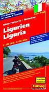 Cover-Bild zu Ligurien MotoMap Motorradkarte 1:275 000 / 1:650 000. 1:250'000