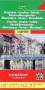 Cover-Bild zu Slowenien - Kroatien - Serbien - Bosnien Herzegowina - Montenegro - Mazedonien, Autokarte 1:600.000. 1:600'000