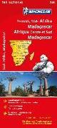 Cover-Bild zu Michelin Nationalkarte Zentral-, Südafrika, Madagaskar 1:4 000 000