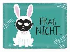 Cover-Bild zu Ed, the Cat Metallschild Frag nicht ...