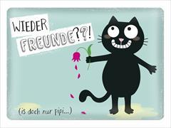Cover-Bild zu Ed, the Cat Metallschild Wieder Freunde