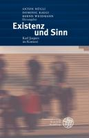 Cover-Bild zu Existenz und Sinn von Hügli, Anton (Hrsg.)