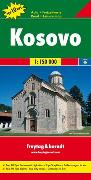 Cover-Bild zu Kosovo, Autokarte 1:150.000, Top 10 Tips. 1:150'000
