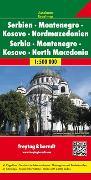 Cover-Bild zu Serbien - Montenegro - Kosovo - Nordmazedonien, Autokarte 1:500.000. 1:500'000