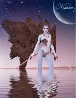 Cover-Bild zu Sternenfeuer, Samuriel: Fantasy Notizbuch: Aequae, die Schattenkriegerin - weiße Seiten mit Eckmotiv