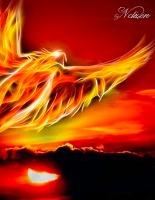 Cover-Bild zu Sternenfeuer, Samuriel: Fantasy Notizbuch: Phoenix - weiße Seiten mit Eckmotiv