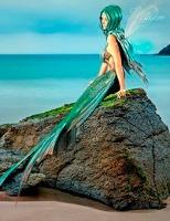 Cover-Bild zu Sternenfeuer, Samuriel: Fantasy Notizbuch: Elandra, die Meerjungfrau - weiße Seiten mit Eckmotiv